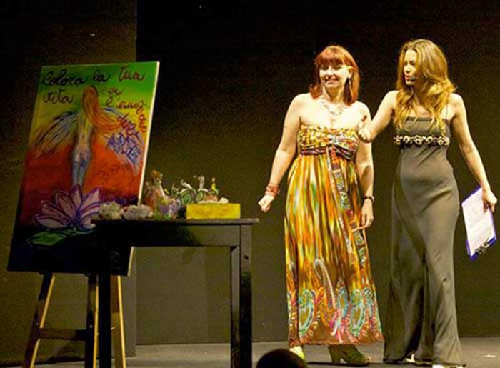 Performance di pittura di Ginevra Roberta Cardinaletti