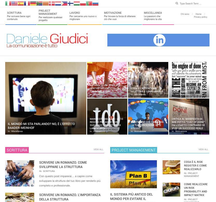 Sito web Daniele Giudici